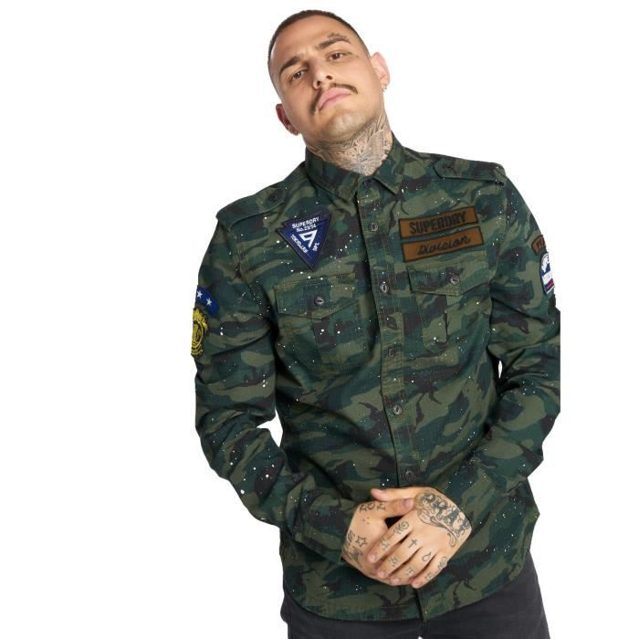 Camouflage Homme Tropical Army Hauts Superdry Achat Chemise zVGSqUMp