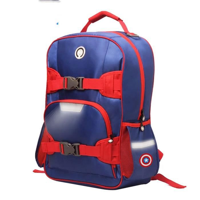 Captain America élèves Cartable 1--2--3-- enfants de 6e sac à dos soins spinale pèse garçons et filles