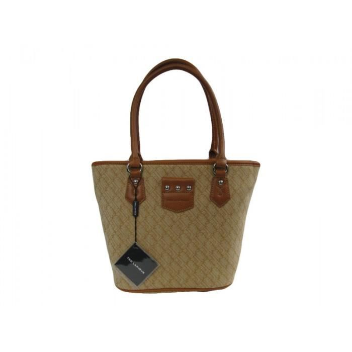 SAC SHOPPING Sac shopping Ted Lapidus Collection Jaquard beige