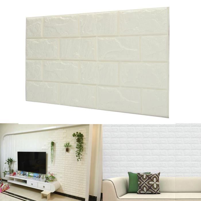 TEMPSA Papier Peint 3D Brique Etanche Mural Pour Decor 60cmx30cm