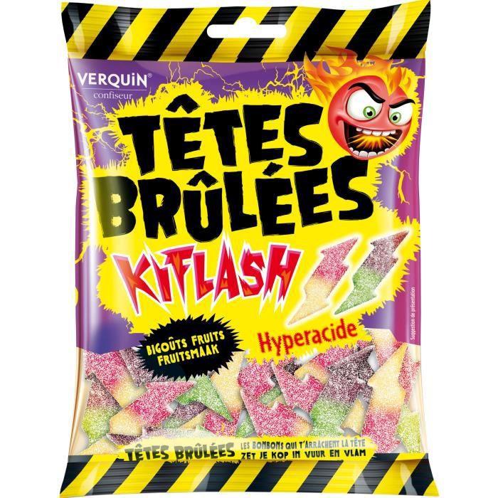 CONFISERIE DE SUCRE VERQUIN Bonbons Têtes brûlées Kiflash aux fruits -