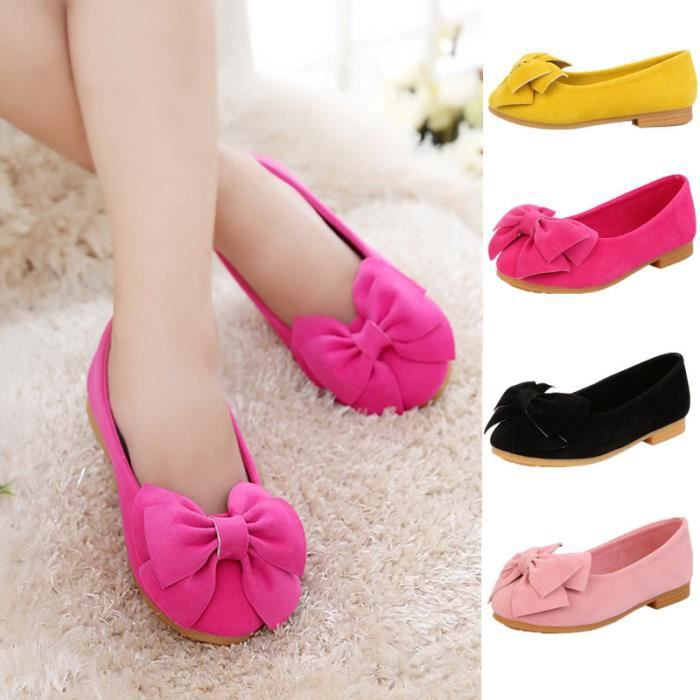 Fille Chaussures Mocassin Nœud Papillons Casual Taille 21-36 PXCSM2