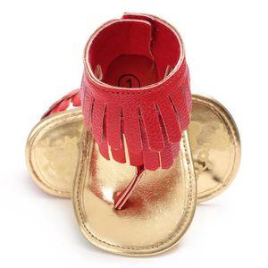 BOTTE Nouveau-né Bébé Filles Fleur Sandales Crèche Anti Slip Semelle Souple Chaussures@Rose rougeHM s2wEj5isDa