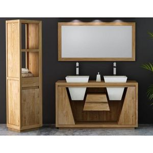 meuble salle de bain teck achat vente pas cher. Black Bedroom Furniture Sets. Home Design Ideas