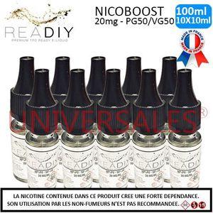 LIQUIDE E-liquide Nicoboot 20mg - Lot de 10 flacons de 10m