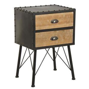 Meuble industriel commode achat vente meuble for Table de nuit style industriel