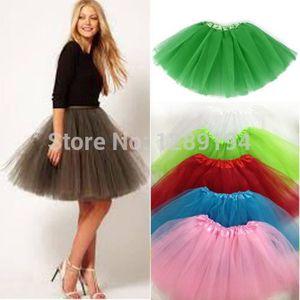 5f6fb181969 Femmes Fille Assez Élastique Extensible Tulle Adolescent 3 Couche Adulte Tutu  Jupe Costume