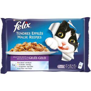 BOITES - PATÉES FELIX Tendres Effilés en gelée - Viandes et poisso