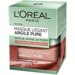 MASQUE VISAGE - PATCH L'ORÉAL PARIS - Masque Visage Lissant Argile Pure