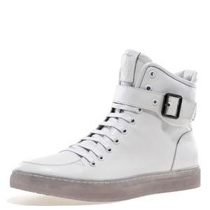 Sullivan bout rond hommes peint à la main en cuir à lacets glissière intérieure et bracelet haut-top Sneaker OMJIX Taille-49 1-2 IiTV4CMO