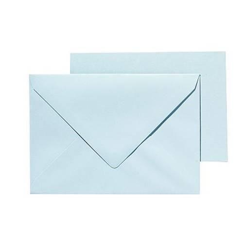 PANDURO Pack Basic cartes et enveloppes A6/C6 Bleu pastel - 10 cartes pré-pliées (105x148), poids 240 g - 10 enveloppes