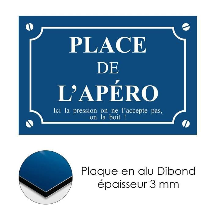 Plaque de rue d corative en alu place de l 39 ap ro achat for Plaque de porte decorative
