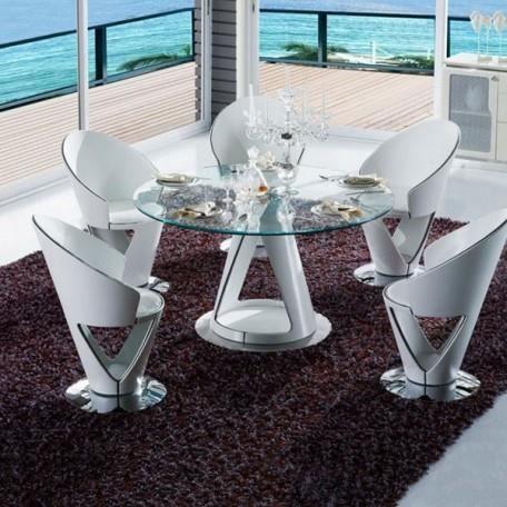 Krystal Ensemble Table Et Chaises Achat Vente Salle A Manger