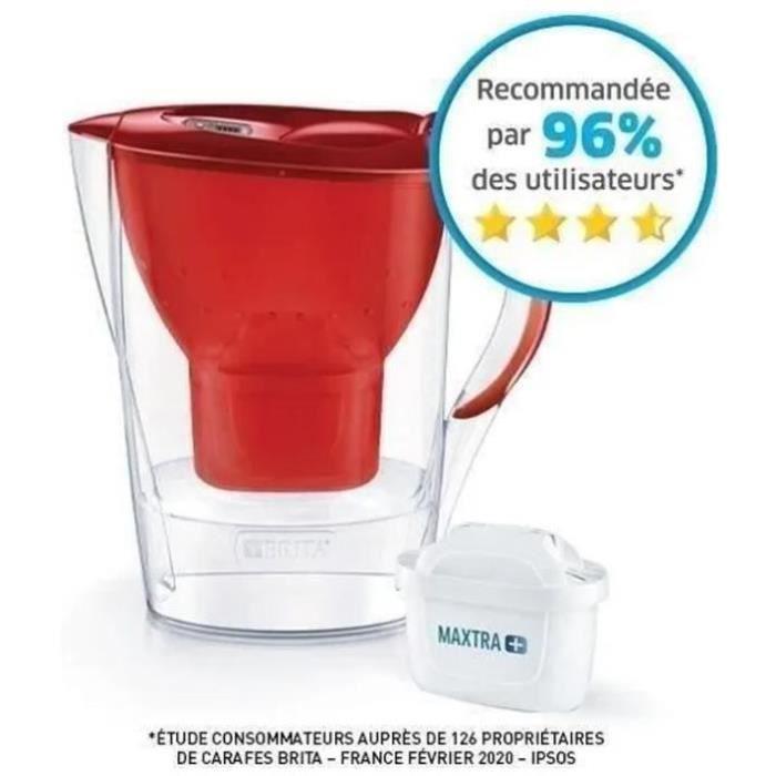 CARAFE FILTRANTE BRITA Carafe filtrante MARELLA Rouge + 1 Cartouche