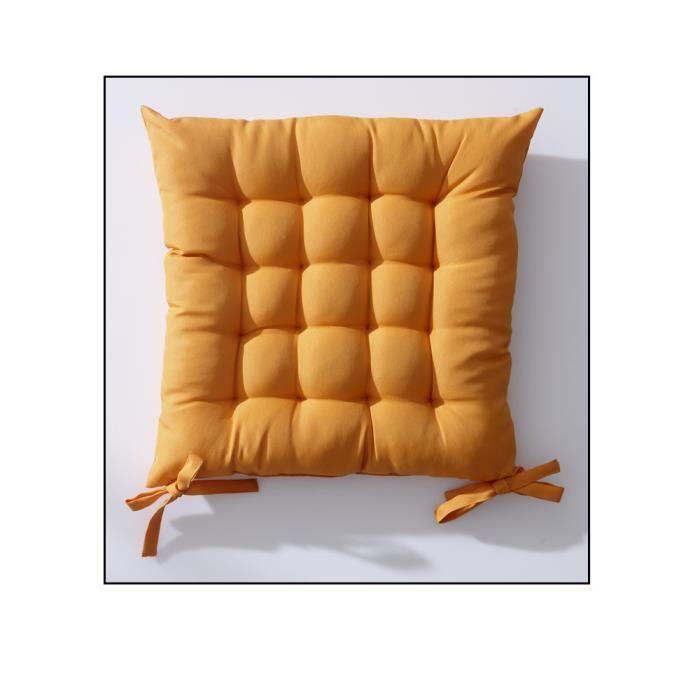 Galette De Chaise 40x40 Cm Matelasse Orange