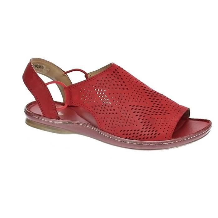 Clarks sarla cadence Rouge - Chaussures Sandale Femme