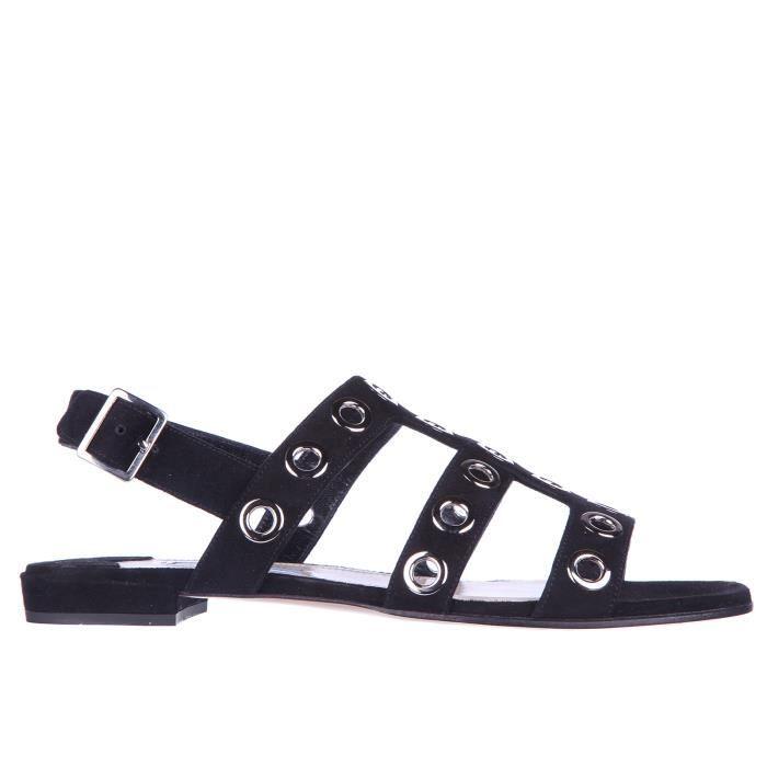 Sandales femme en daim Prada