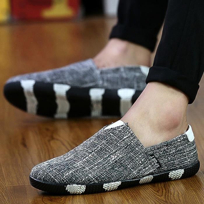 chaussures multisport Homme de sport en plein air de marche tendance PLATS conduite pour hommes rouge taille10 Lur2oIHRNQ