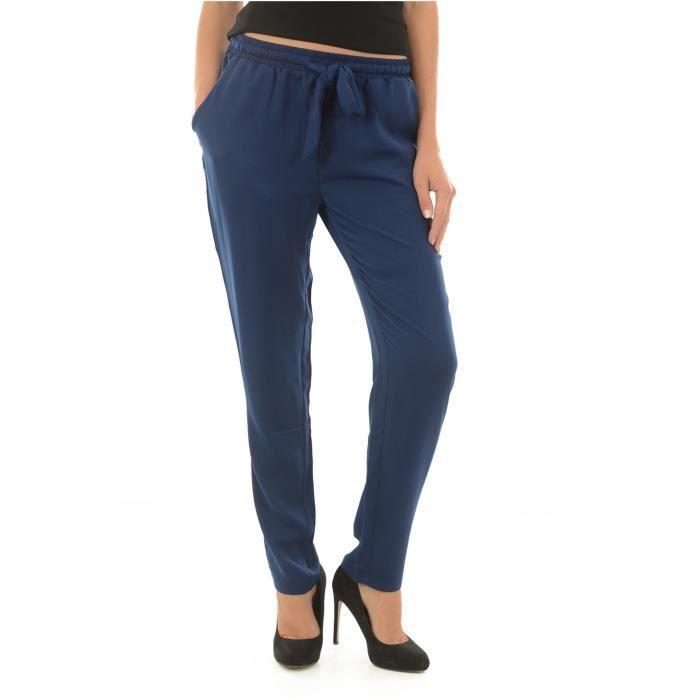 Femme Faty Bleu Bleu stretch Achat Bleu Pantalon fluide KAPORAL 7WUTcFv