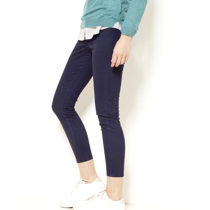 Camaieu - Pantalon femme 7/8 BALTIC 7/8 BLACK IRIS