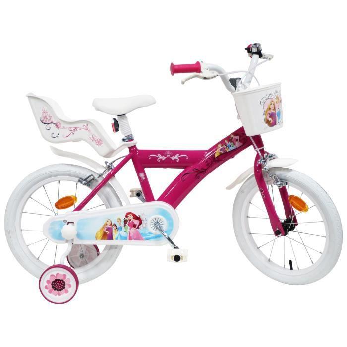 2c904b1fccdd0 Vélo enfant Fille Princesses - 16'' - Rose - Prix pas cher - Cdiscount