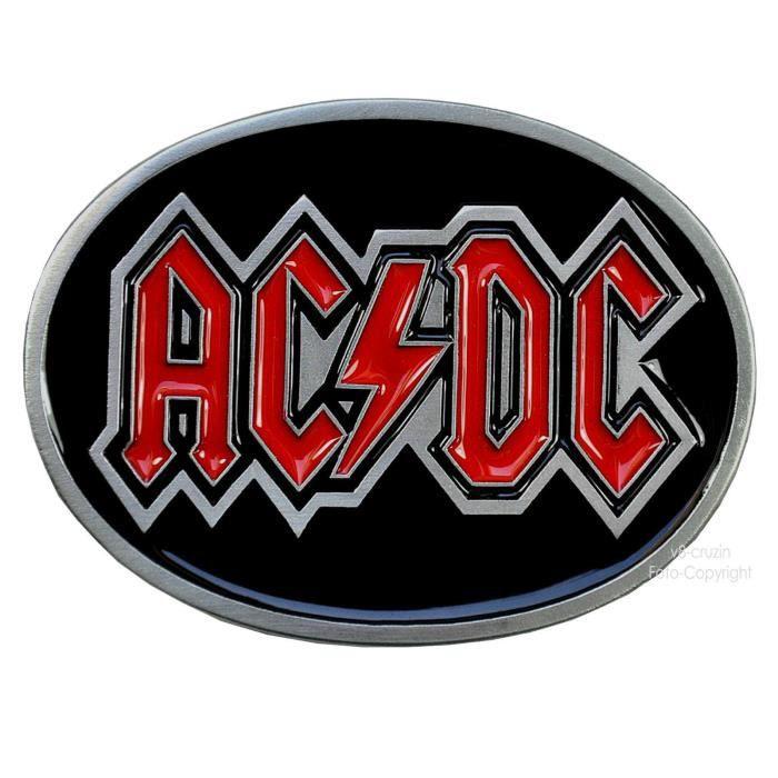 d84a3e1b5fac Boucle de ceinture acdc ac dc hard rock Noir Noir - Achat   Vente ...