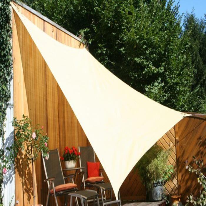 voile d 39 ombrage rectangulaire sable ajour en poly thyl ne. Black Bedroom Furniture Sets. Home Design Ideas