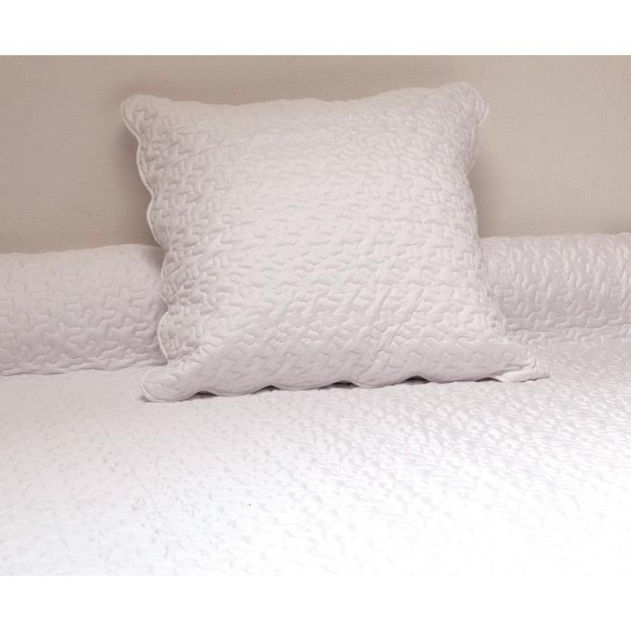 couvre lit boutis blanc pas cher Couvre lit pique de coton blanc   Achat / Vente pas cher couvre lit boutis blanc pas cher