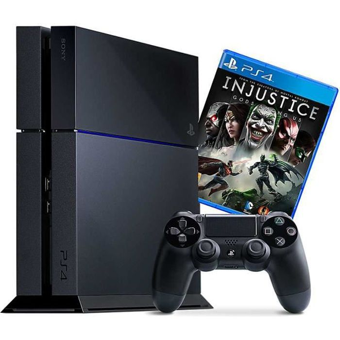 CONSOLE PS4 Pack Console PS4 500 Go + Jeu Injustice