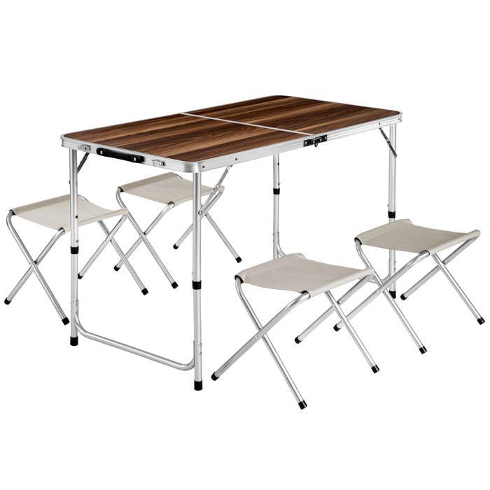 Table Et Chaise Aluminium Camping