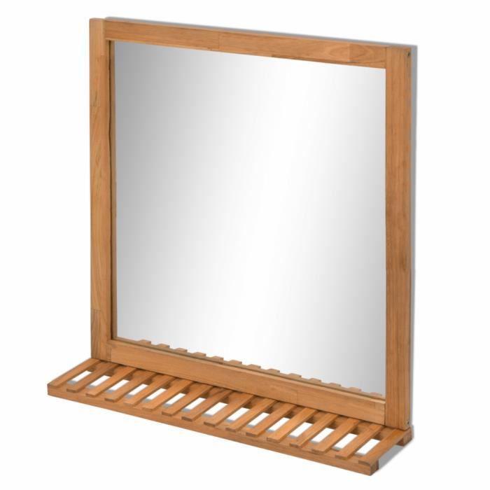 Miroir de salle de bain avec tablette - Achat / Vente Miroir de ...