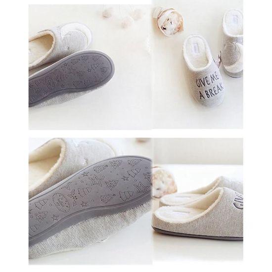 Anti Hiver dérapant Chaussons House Pantoufles Shoes Peluche Femmes Ours Mignon Slippers Chaud kZuPXi