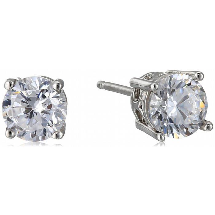 Jewel Panda en argent sterling fleur blanche cubique collier pendentif et boucles doreilles ensemble de bijoux M9R9B