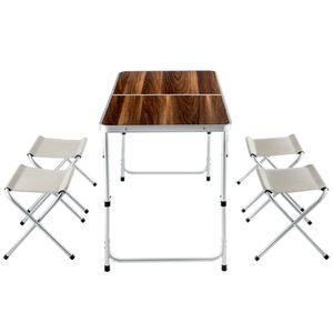 table valise pique nique achat vente table valise pique nique pas cher cdiscount. Black Bedroom Furniture Sets. Home Design Ideas