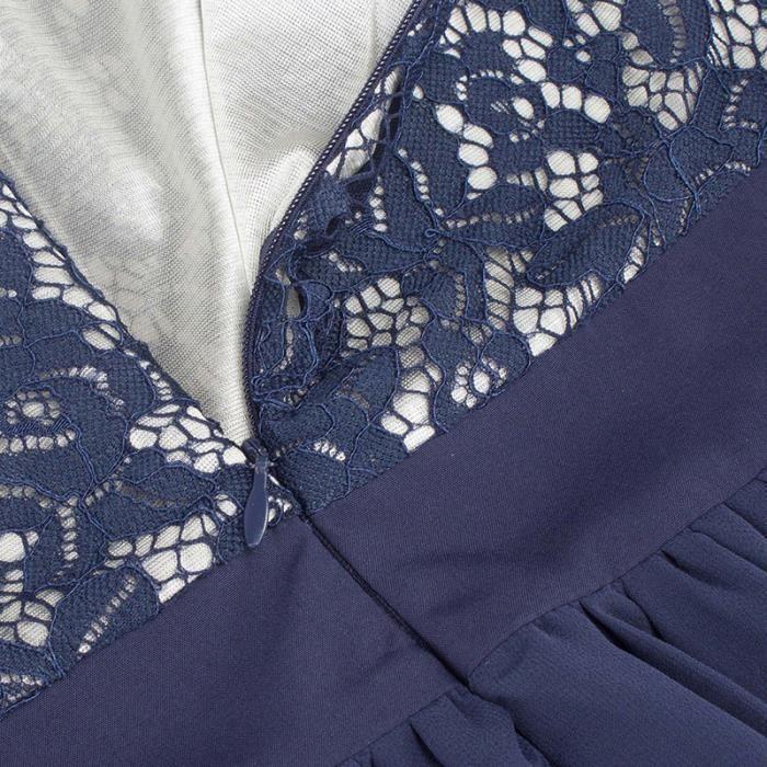 Robe Femme Été Élégant longue Taille haute en mousseline de soie slim sexy mode SIMPLE FLAVOR