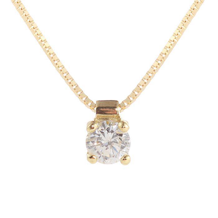 MONTE CARLO STAR - Collier Clou en Or Jaune 18 Carats et Diamant - Femme