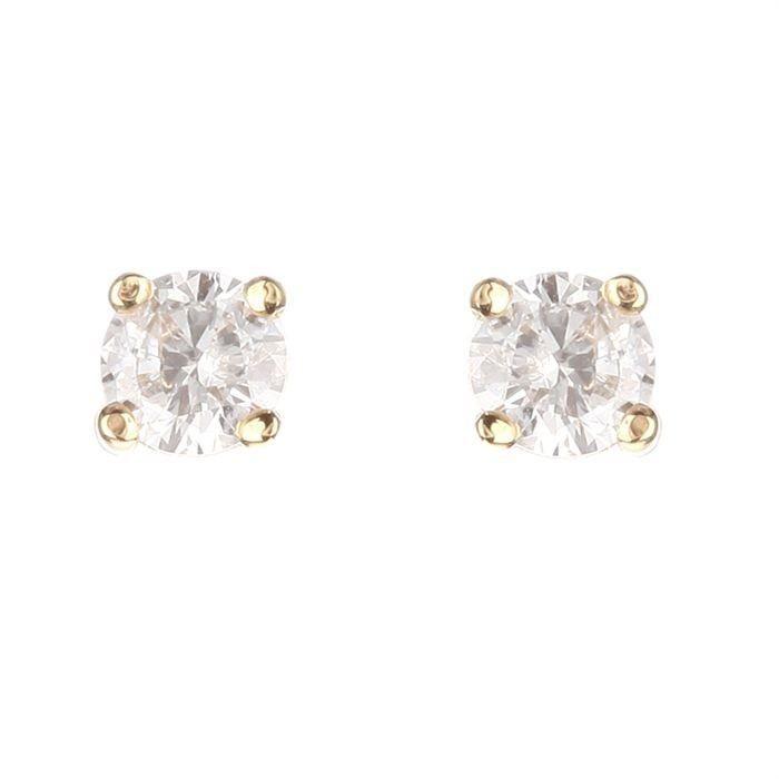 MONTE CARLO STAR Boucles d'oreilles Or Jaune 750° et Diamants 0. 40 ct Femme