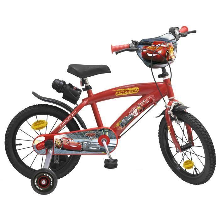 """VÉLO ENFANT Vélo 16"""" Cars 3 - Garçon - Rouge"""