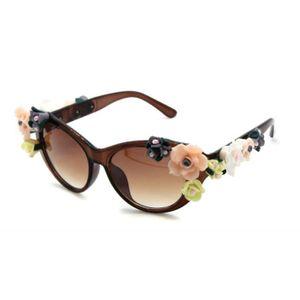 LUNETTES DE SOLEIL Qualité, fleurs anciennes, lunettes de soleil pour