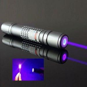 POINTEUR Pointeur Laser Stylo Haut Puissance Bleu Violet Lu
