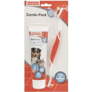 SOIN POUR ANIMAUX BEAPHAR Combi-pack dentifrice + brosse à dents - P