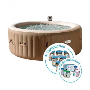 SPA COMPLET - KIT SPA Spa gonflable Intex PureSpa Bulles 4 personnes + 1
