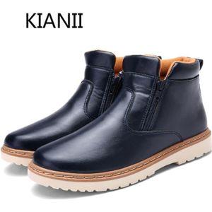 JOZSI Bottine Homme Comfortable Classique Chaussure Hommes LKG-XZ218Vert44 Wdime0D