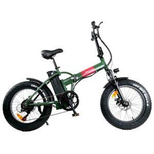 VÉLO ASSISTANCE ÉLEC Vélo éléctrique pliant E-ROAD Mini fat - Kaki