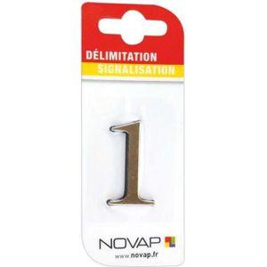 CONE - RUBAN CHANTIER Adhésif plastique en relief coloris or Novap - 1