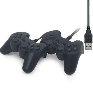 JOYSTICK JEUX VIDÉO 2 PCS USB par fil Manette de jeu Gamepad Controleu