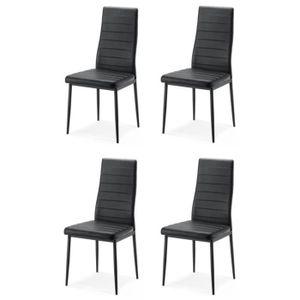 CHAISE KENT B Lot de 4 chaises de salle à manger - Métal