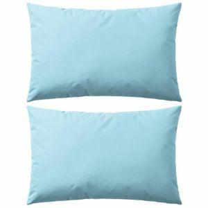 OREILLER Oreiller d'extérieur 2 pcs 60 x 40 cm Bleu clair
