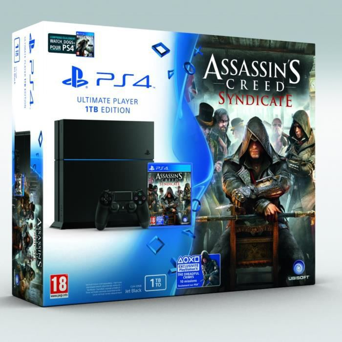 CONSOLE PS4 PS4 + Assassin's Creed Syndicate + Watch Dogs