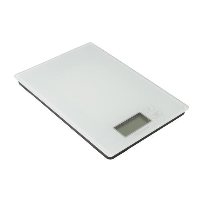 FRANDIS Balance de cuisine rectangulaire digitale - Blanc